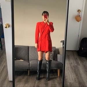 Vintage double breasted romper!